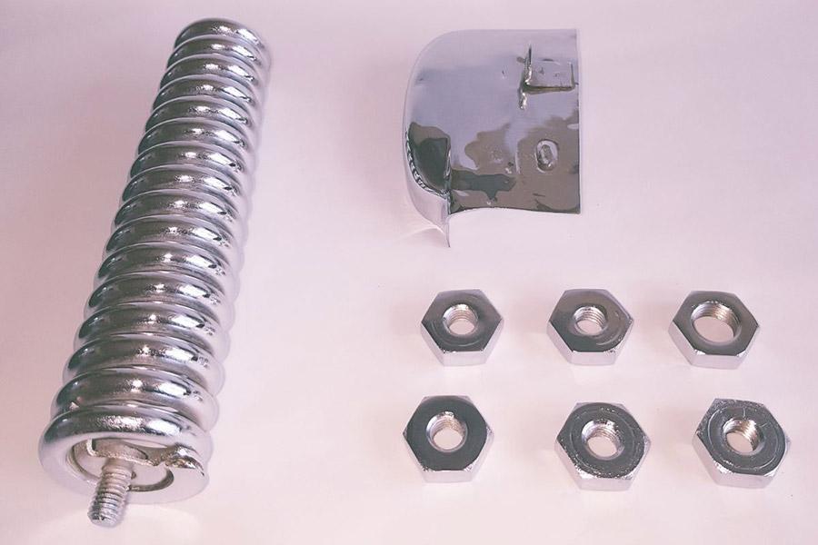 Plateado piezas motor