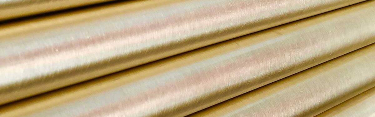 Barras acabado metálico oro